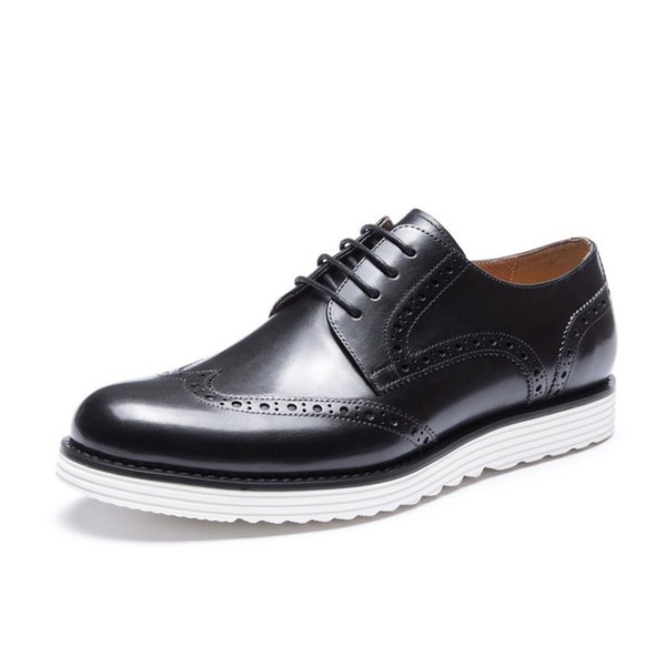 New Arrival men leather genuine shoes man high quality brogue shoes comfortable dress shoes brogue shoes comfortable dress shoes