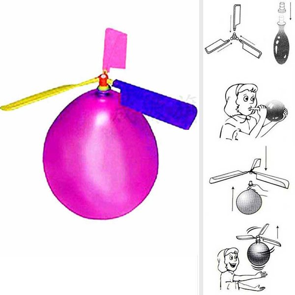 2019 Flying Balloon Helicopter Spielzeug Ballon Flugzeug Spielzeug Kinder Spielzeug selbst kombinierte Ballon Helicopter Kind Geburtstag Xmas Party Bag Geschenk C52