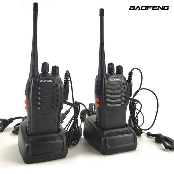 2 adet / grup Baofeng BF-888S UHF 400-470 MHz Mini Taşınabilir İki yönlü telsiz Telsiz Baofeng BF 888 S jambon için Walkie-Talkie