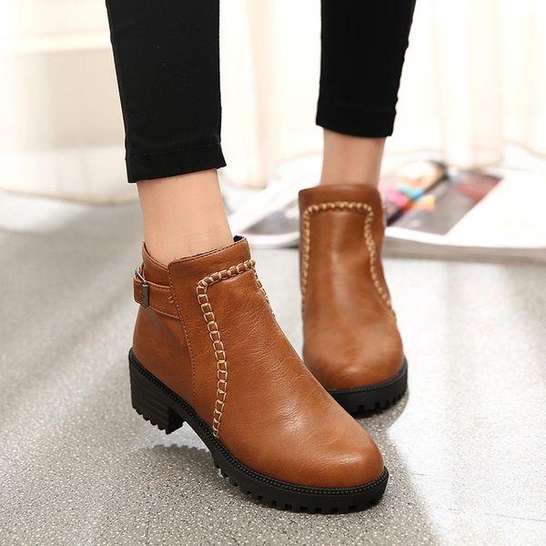 Plus size fashion women shoes 2018 winter autumn casual women flats warm boots women snow botas shoes Mujer zapatos ghn890