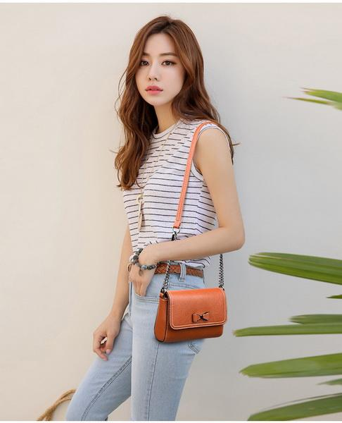 new Fashion New Style Style Baonu Bag Korean Edition Fashion Butterfly Knot Accessory Ladies One Shoulder Slant Bag