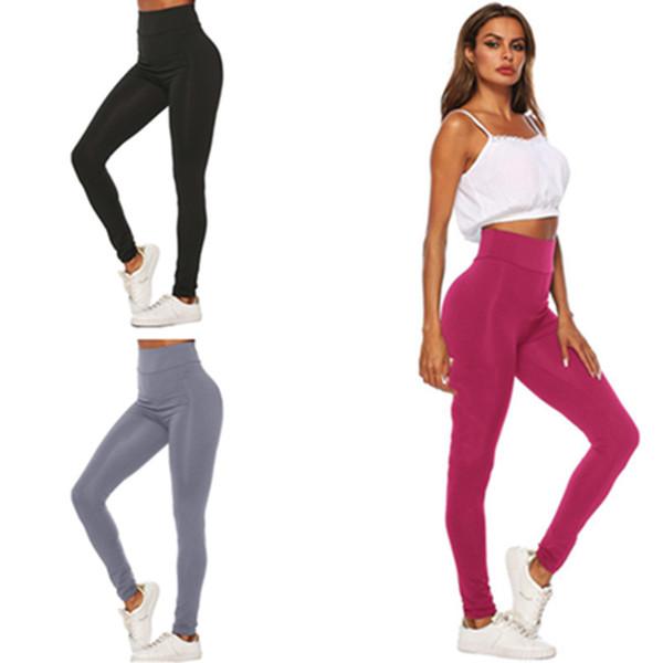 3 Colors Women's Sports Pants Designer Leggings Summer Tights Skinny Bodycon Pants Milk Fiber Quick Dry Jogging Trousers Tracksuit 2019 C415