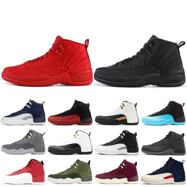 12 12s High Basketball Shoes Mens Gym Red Wool Michigan Nylon Taxi Gamma Blue NYC XII Men Designer Shoes Sport Sneakers US 7-13