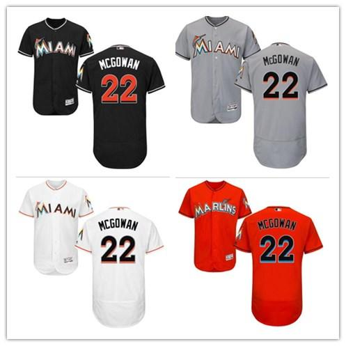 competitive price 89f11 bb417 2019 2018 Can Miami Marlins Jerseys #22 Dustin McGowan Jerseys  Men#WOMEN#YOUTH#Men'S Baseball Jersey Majestic Stitched Professional  Sportswear From ...