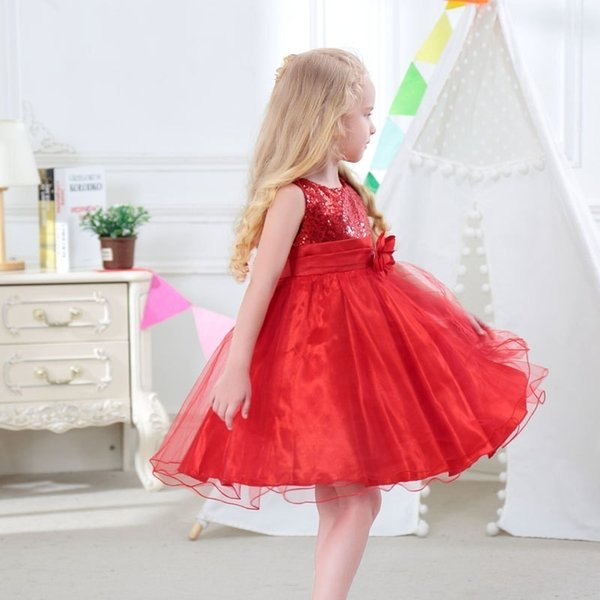 Vestido de la princesa de la muchacha clásica del verano de la ropa de los últimos 2019 dress7733