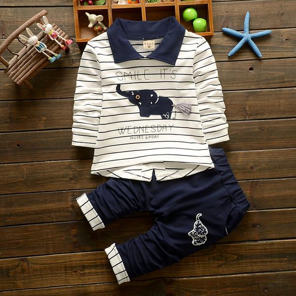 BibiCola Baby Jungen Kleidung Sets Kinder Frühling Herbst Sport Anzug Kinder Jungen 2 STÜCKE Cartoon Gestreifte Kleidung Outfit Trainingsanzug