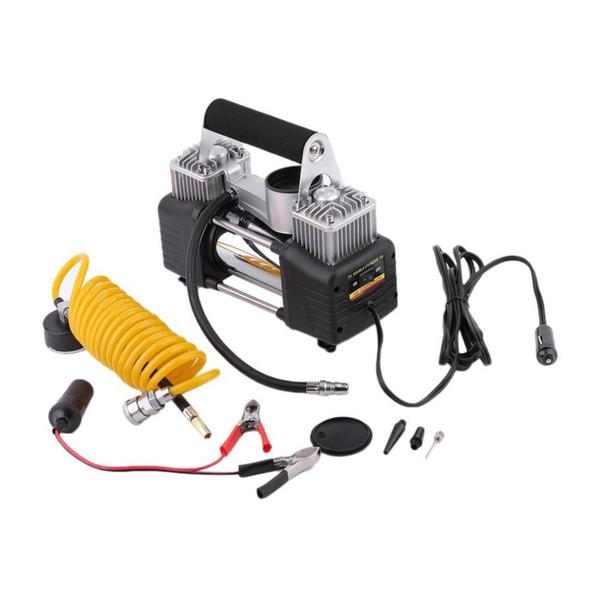 Spedizione pompa elettrica auto del veicolo portatile Styling Super Flow Car Tyre gonfiatore 12V DC metallo caldo di goccia compressore d'aria