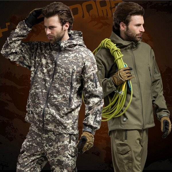 14 colors waterproof windproof hiking jackets men camouflage sportwears tactical hiking hunting camping clothes thumbnail