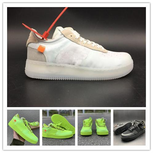 box New Arrivals Forces Volt Running Shoes Women Mens Trainers Forced One Sports Skateboard Classic 1 Green White Black Warrior Sneakers