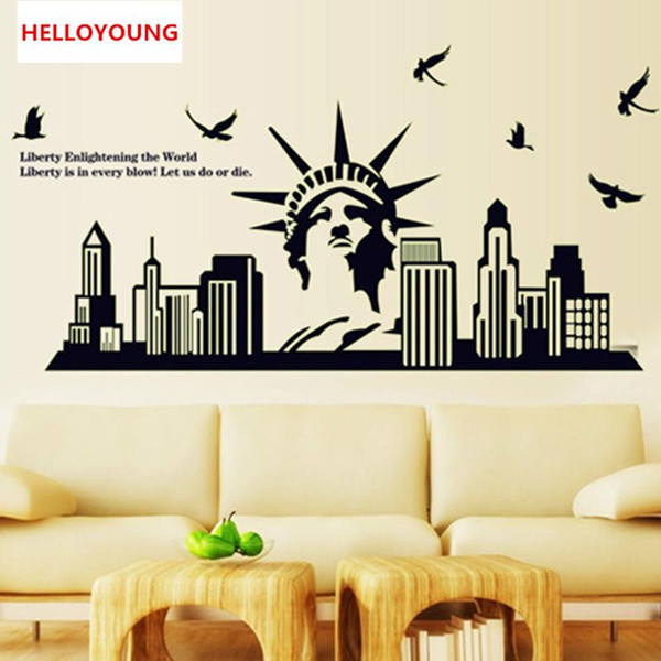DIY Wall Sticker The Statue Of Liberty All-match Style Luminous Wallpapers Mural Waterproof Wall Stickers Home Decor