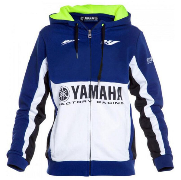 Yamaha Zip Hoodie EMBROIDERED Moto Logo Sweatshirt Jacket Hoody Mens Motorcycle