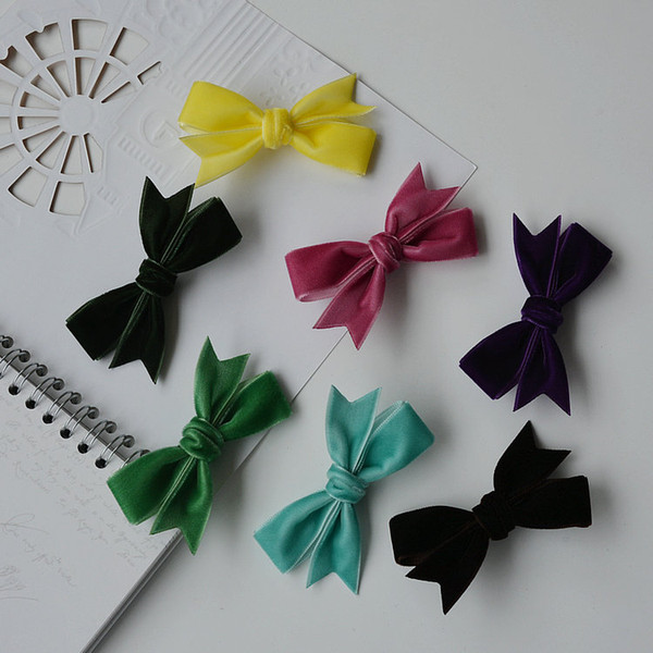 2019 Dog Grooming Accessories Clip Pet Vintage delicate velvet bow Hair Flower Card for Dogs Hairpin 20pcs/lot