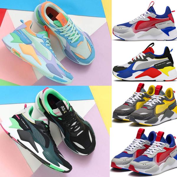 Erkekler Kadınlar RS-X Yeniden Teşvik Koşu Sistemi Beyaz Siyah Mavi Kırmızı Sarı Ayakkabı Atletik Moda Sneakers Koşu Spor Ayakkabı