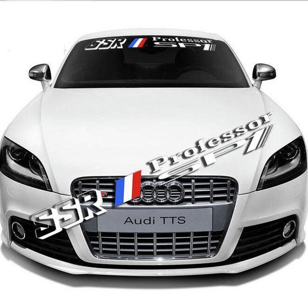 Auto Car Front Rear Windshield Window Banner Vinyl Emblem Decal Reflective Sticker Custom DIY For SSR Professor