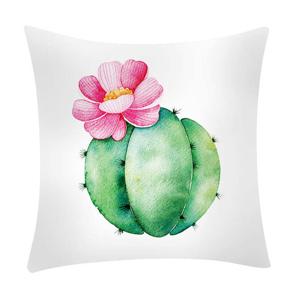 Home Sofa Bed Cactus Banana Leaf Family Pillow Bedroom Comfortable Throw Pillow Cushion Decorative Vintage Cotton 19jan28