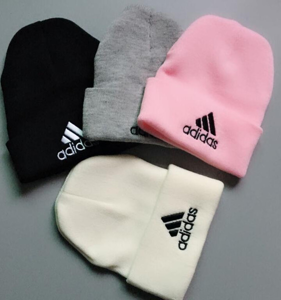 Nouvelle arrivée chapeaux d'hiver célèbre LuxeAdultes adidas Hip Hop Knit Beanies Hommes Femmes d'hiver Head Warmer Caps Crâne