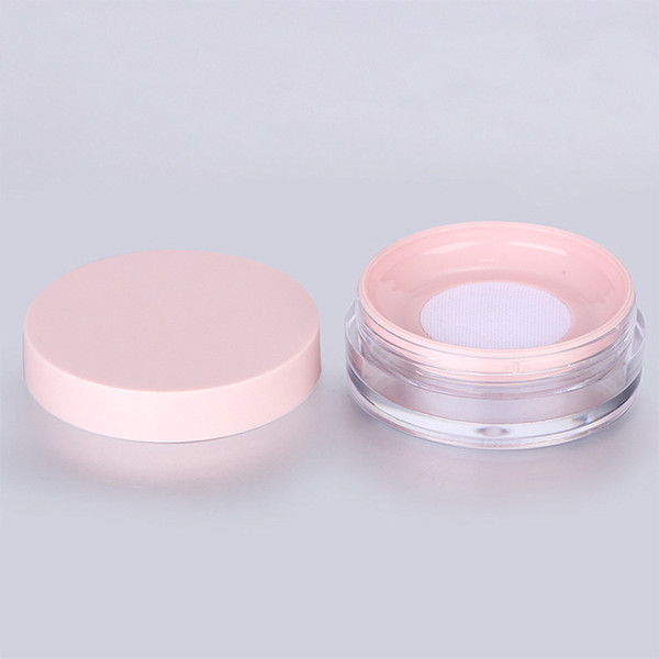 10g Plastic Empty Powder Case Face Powder Makeup Jar Travel Kit Blusher Cosmetic Makeup Containers with Sifter powder puff and Lids