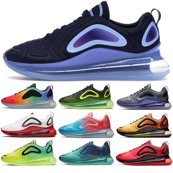 nike air max 720 Preto Laser Fuchsia Homens Sapatos de Grife Ser Verdadeiro Futuro Formadores Das Mulheres Dos Homens Tênis Em Execução Triplo preto Sapatos De Luxo