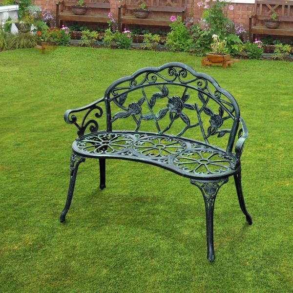 Surprising 2019 Sonyi Outdoor Patio Bench Bronze Rose Carving Cast Aluminum Courtyard Decoration Park Leisure Front Porch Garden Loveseat Metal Furniture From Pabps2019 Chair Design Images Pabps2019Com