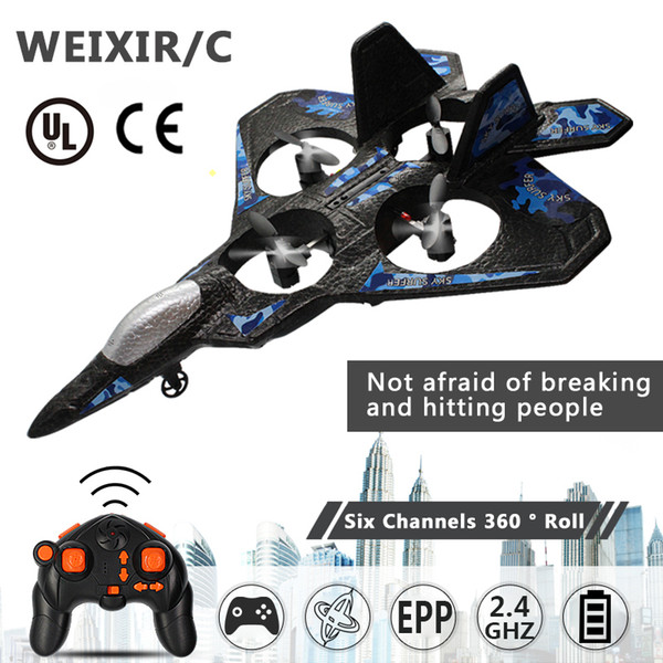 top popular RC Airplane Fixed Wing Drone Model Aircraft Electric RTF Epp Foam Phantom Remote Control Fighter Quadcopter Glider Plane Aircraf Y200428 2021
