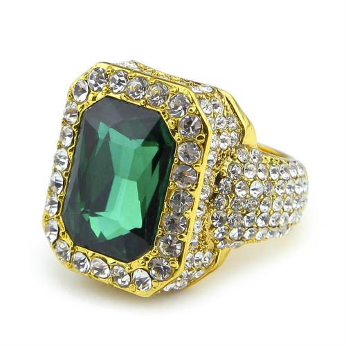 Gold with Emerald