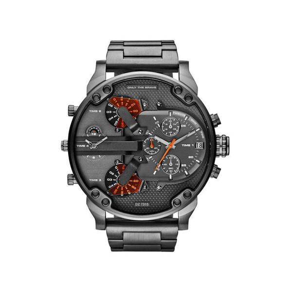 Sport militaire montres mens nouveau reloj en acier inoxydable Strp grand affichage cadran diesels montres dz montre dz7333 DZ7312 DZ7315