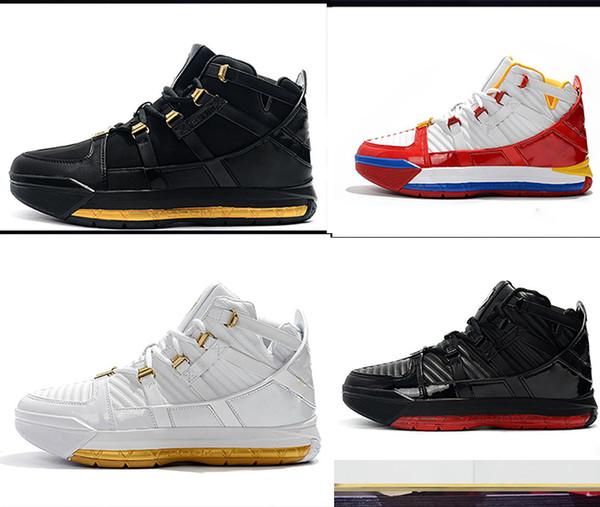HOT 3 Scarpe da basket retrò uomo ZOOM 3s Scarpe sportive MVP Training bianco nero rosso Oro Sneakers Moda scarpe firmate di lusso EUR 40-46