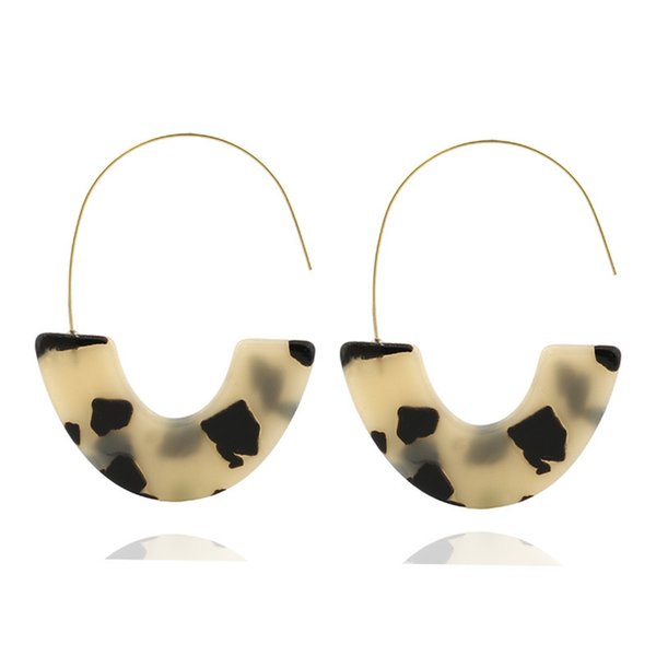 2019 Hot Sale Brincos Earings Europe And The New Earrings Leopard Acetate Acrylic U For Wish For Eardrop Sources Collars