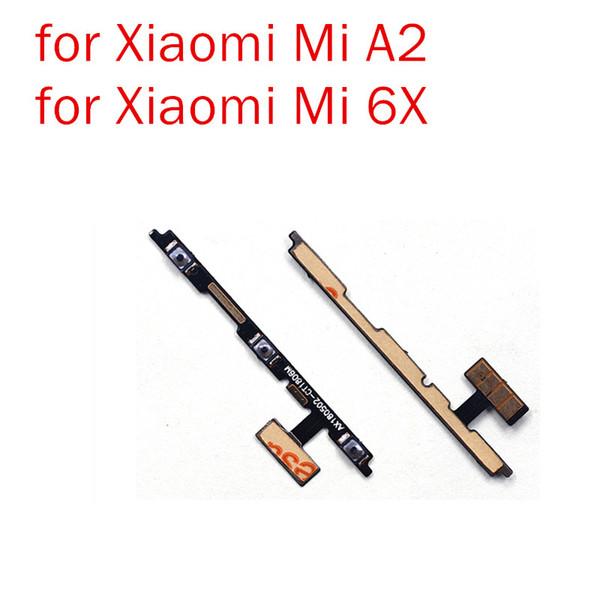 para Xiaomi Mi A2 / Mi 6X Power Volume Flex Cable ON OFF Interruptor de botón lateral Reemplazo de Cable Flex Repuestos de repuesto