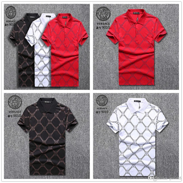 Best 18s italy Brand Colorful Bees Embroidery Polo Shirt Men Short Sleeve Mercerized Cotton Designers Polos High Quality Popa Hombre