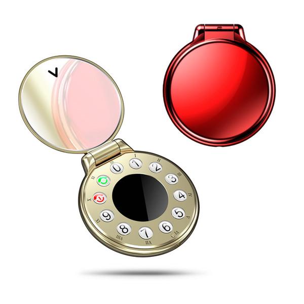 El mejor teléfono plegable 2019 AEKU A8 Reloj de bolsillo retro con forma de teléfono mini bluetooth Auriculares con dialer Mini teléfonos móviles para niños sin DHL