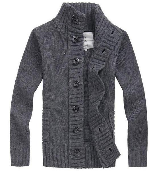 2014 mode neue herbst winter herrenjacke strickjacke jacken wolle mischung verdicken slim fit strickpullover herrenbekleidung
