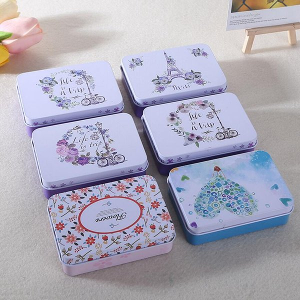 Colorful mini tin Metal box Sealed jar packing boxes jewelry, candy box small storage cans Coin earrings headphones gift