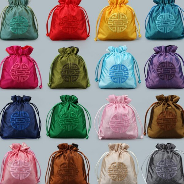 New Chinese style drawstring bags, fashion wedding candy packaging jewelry storage bags beautiful Jewelry Pouches T2C5020