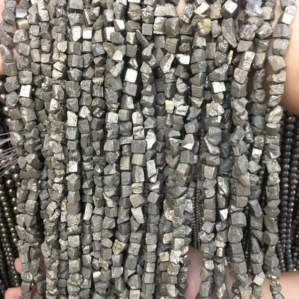 Natural stone beads pyrite 6-8MM amorphous partial loose beads jewelry making necklace DIY bracelet