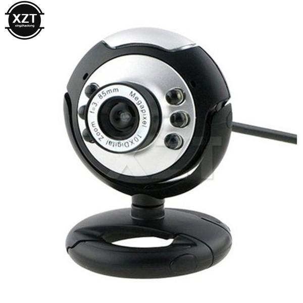 High Quality USB PC Webcams Web Camera 6 LED Night Vision FOR MSN,ICQ,AIM,Skype,Net Meeting Webcam Mini camera