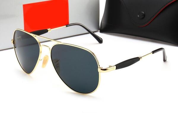 espejo de los hombres y las mujeres europeas y americanas moda gafas de sol gafas de sol Pareja en calle nueva de cristal de la moda de alta calidad con el caso de 3517 y 202