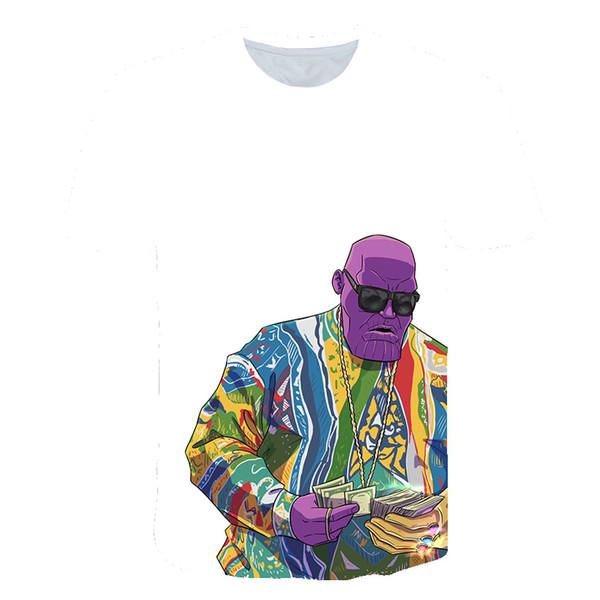 European and American Fashion Men's Wrestling King 3D Digital Printed T-shirt Fashion Men's Fitness Short Sleeve T-shirt