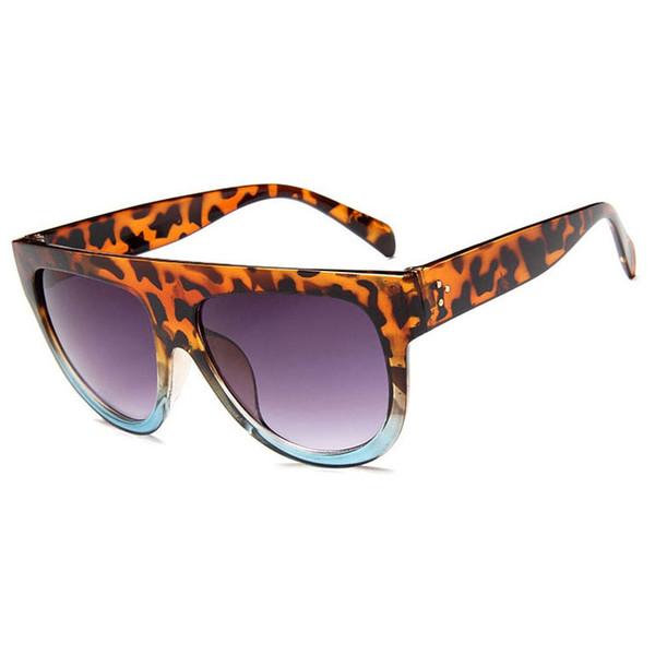 New Leopard Square Round Occhiali da sole Uomo e donna HD Polarized Green Lens Blackout Oculos Uomo UV400 Protection Occhiali da sole Uomo e donna