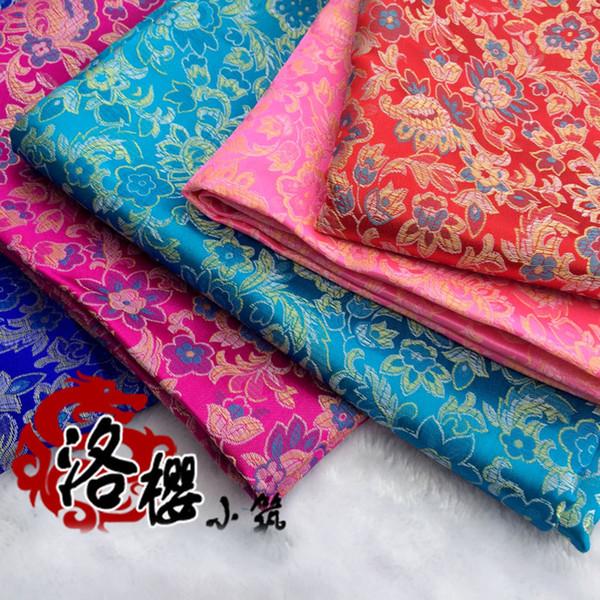 Broccato costume hanfu vestito convenzionale bambino vestiti jacquard kimono cheongsam avanzato cos vestiti tessuto damasco piccolo fiore