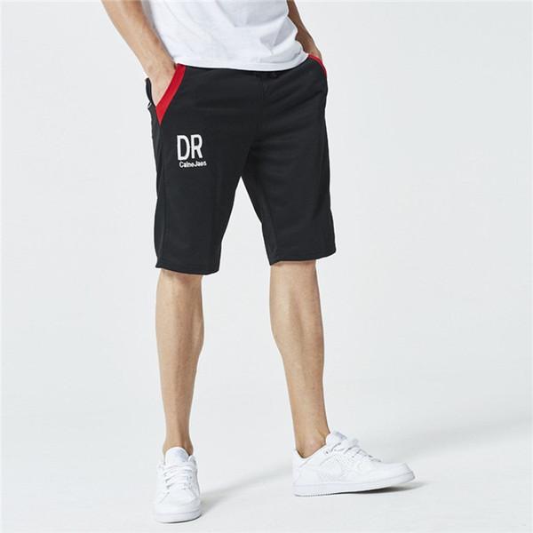 Cordón Quinto Pantalones para hombre Letras de verano Imprimir Pantalones cortos deportivos Pantalones Pantalones sueltos Adolescente