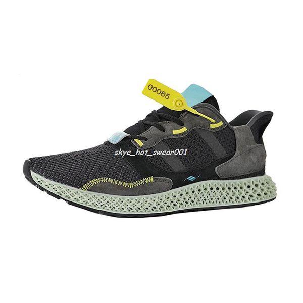 VariousComfortable ZX 4000 4D entraîneur chaussures mans chaussures de sport hommes technologie d'impression ZX 4000 chaussures de basketball Futurecraft 4D taille: US 7.5-11.5
