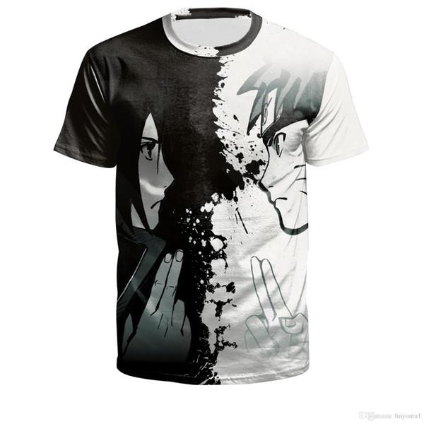 novo Moda Anime 2019 do verão camisetas t-shirt engraçado do traje de Uzumaki Naruto 3D camisa Masculino Feminino Harajuku Vintage cosplay tee
