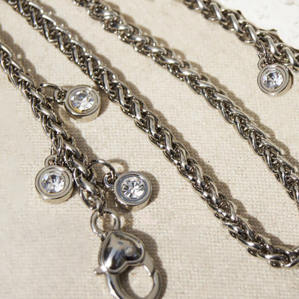 Diy Acessórios 40 cm-150 cm Moda 6mm Substituição Cadeia Ombro Cintas de Prata Para Mini Bolsas, Bolsas, Saco de Embreagem alças