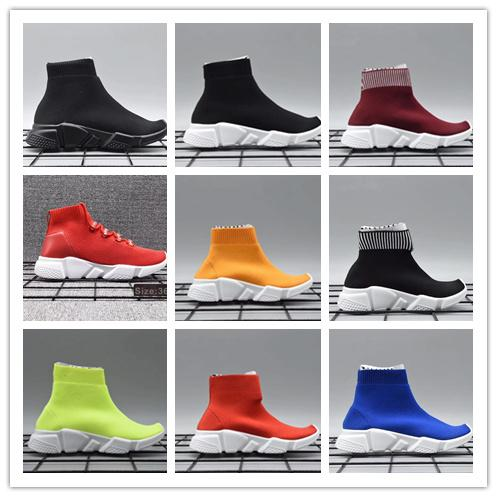 Infant Children Kids running shoes Speed sock High Sneaker Tess Mesh Sports shoes toddler boy & girl Trainer stretch-knit