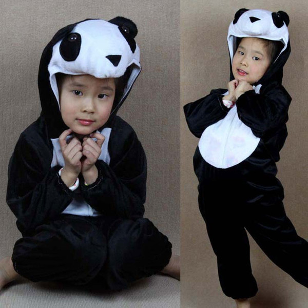 cloth watch Umorden Cartoon Animal Panda Costume Cosplay Children's Day Halloween Carnival Costumes Jumpsuits for Children Kids Girls Boys