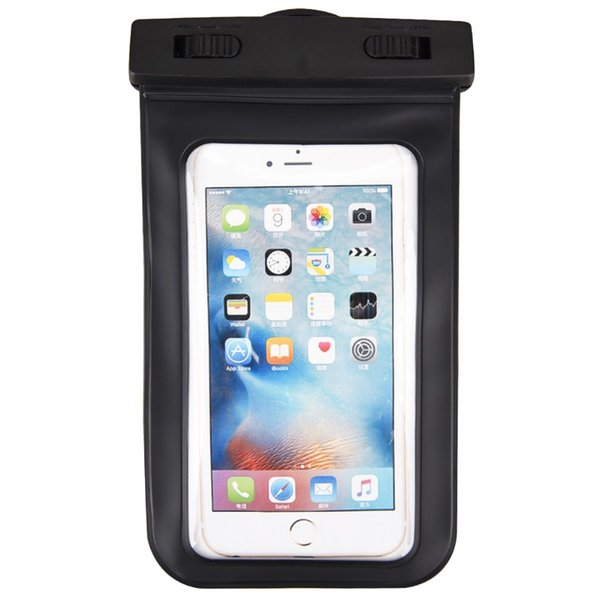 Black Waterproof Bag Case for iPhone 7 6 6s Arm band Case Bag with Earphone Underwater Water Proof Cover for Samsung Cellphones
