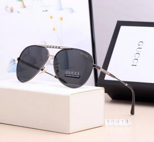 Lentes de vidrio de alta calidad Polit Gafas de sol de lujo Gafas de sol Carfia UV400 para hombres Gafas de sol de diseñador Vintage Metal Sport Gafas de sol con caja