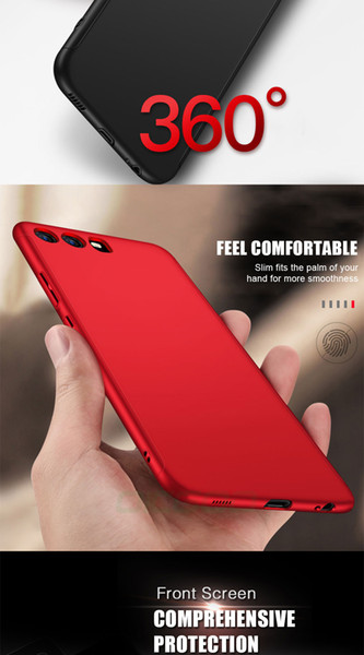 360 Degree Full Cover Case For Huawei P9 P10 P20 Lite Plus Cases With Glass For Huawei P20 Mate 9 10 Lite Pro Phone Case Free shipping