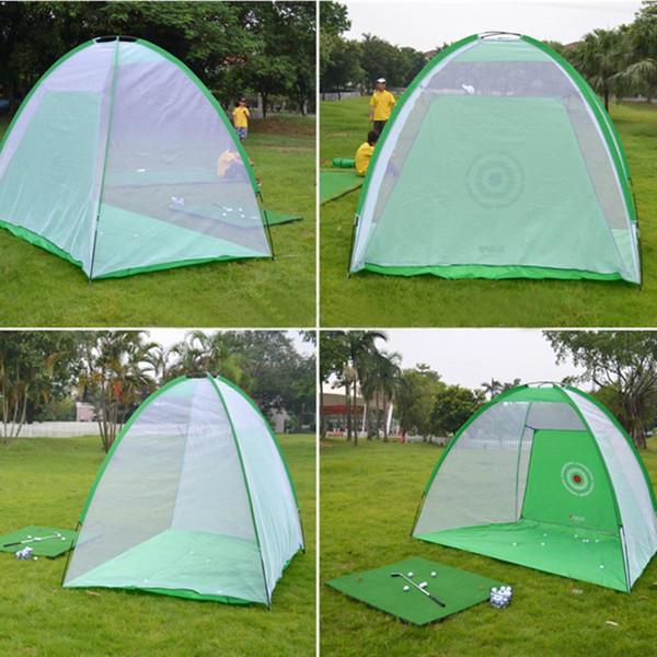 2 * 1,4 mt Golf Trainingsnetz Golf Trainingsnetze Indoor Outdoor Gartentraining Tragbare Übungszelt Ausrüstung